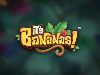 It's Bananas kids logo game title design cartoon logo 3d title game branding game title game logo boardgames title design boardgame