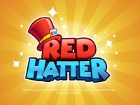 RedHatter Youtube Channel studio logo kids logo 3d title board game game logo illustration game title game branding logo design boardgames cartoon logo boardgame title design gaming youtube youtube channel redhatter