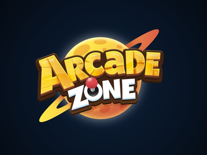 Arcade Zone game title board game kids logo cartoon logo 3d title game branding boardgames boardgame title design game logo