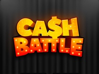 Cash Battle board game 3d title game logo title design game branding boardgame boardgames game
