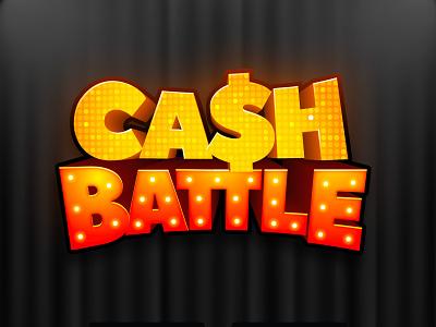Cash Battle board game 3d title game logo title design game branding boardgame boardgames game
