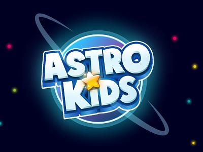 Astro Kids kids logo cartoon logo illustration 3d logo mobile game boardgames boardgame title design