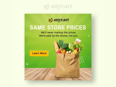 Anycart Banner Design cart price store shopping design bannerbazaar banner bazaar google ad banner banner creative banner social media banner