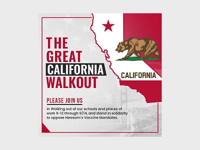 The Great California Walkout Banner Design advertisement concept creative logo illustration design bannerbazaar banner bazaar google ad banner banner creative banner social media banner