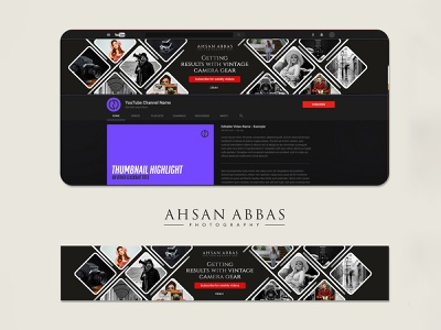 Ahsan Abbas Photography Banner Design concept creative photography advertisement logo illustration design bannerbazaar banner bazaar google ad banner creative banner banner social media banner