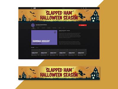 Halloween Season Banner Design concept season horror creative advertisement halloween logo illustration design bannerbazaar banner bazaar google ad banner creative banner banner social media banner