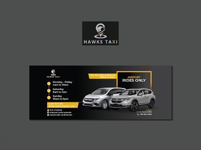 Hawks Taxi Banner Design concept business creative service taxi logo illustration design bannerbazaar banner bazaar google ad banner creative banner banner social media banner