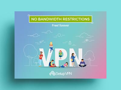 No bandwidth restriction - banner design