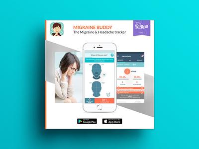Migraine buddy - banner design