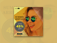 Summer arrivals - banner design.