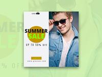 Summer sale 50% off - banner design