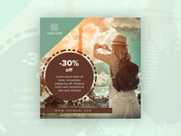 30% off - banner design