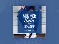 Summer sale - banner design