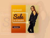 Sale 50% off - banner design