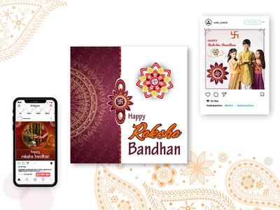 Happy Raksha Bandhan - Banner Design