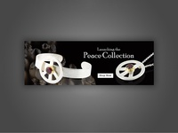 Peace Collection Concept Banner Design