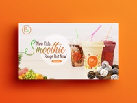 Smoothie Concept Banner Design