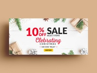 Celebrating Christmas Banner Design