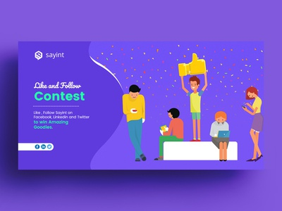 Like And Follow Contest Banner Design