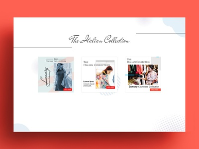The Italian Collection Banner Design