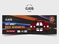 Car Parts Clasiq Banner Design.