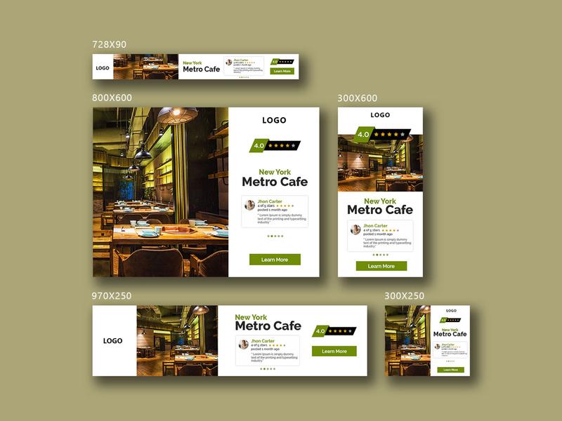 New York Metro Cafe banner bazaar bannerbazaar design banner design sale cover banner small creative banner google ad banner banner social media banner