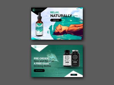 Relax Naturally Banner Design