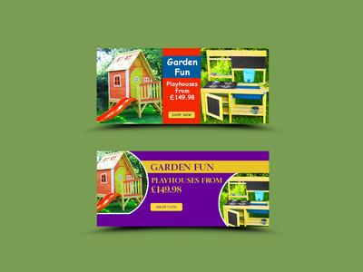 Garden Fun Banner Design