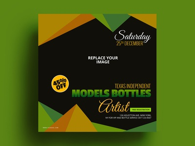 Models Bottles Banner Design