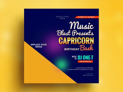 Capricorn Banner Design
