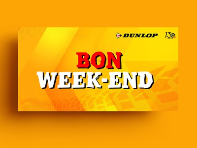 Bon Week-End Banner Design
