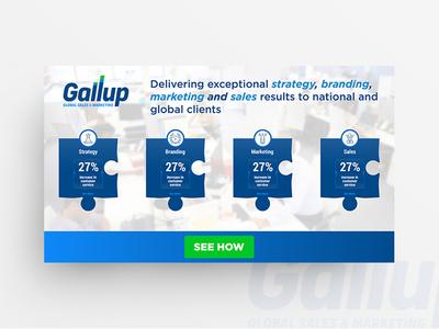 Gallup Banner Design