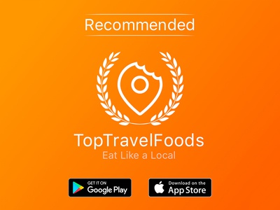 Top Travel Foods Banner Design