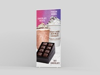 Chocolate Treats Roller Banner Design