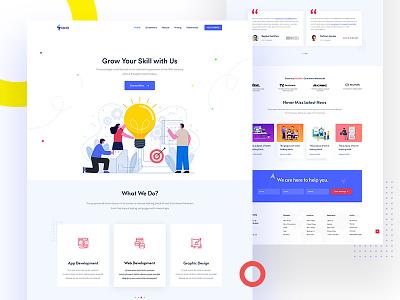 Sassly Digital Agency Landing Page app landing template app design marketing minimal app landing creative design business clean agency