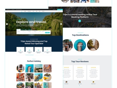 Travel UI Template ui turism travel marketing app landing minimal design business creative clean agency