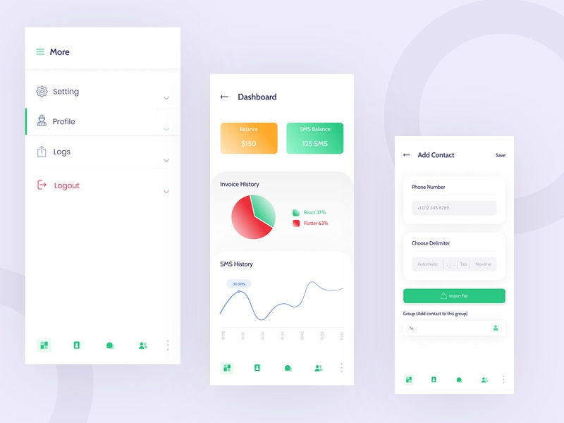 Dashboard App Screen branding cryptocurrency clean app landing template app landing ui design business creative dashboard app app design app