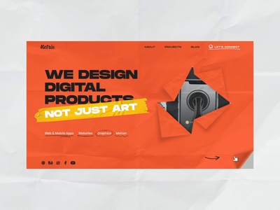 Netrix Website studio illustraion hover contact web drag scroll projects agency ui interaction sotd awwwards homepage banner muzli lottie motion animation website