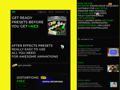 MadDad Website after effects ae home pagr homepage home gif landing page preloader hero landing banner motion graphics animation logo design ui illustrations web crypto bitcoin