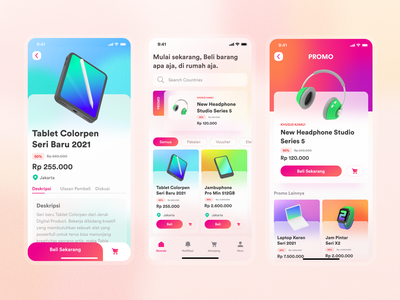 Design Explore - Ecommerce App headphone glass glassmorphism apps ecommerce ecommerce app gradient colors app ux ui  ux ui design