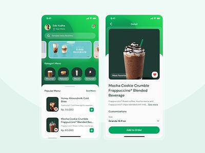 Starbucks App store starbucks redesign redesign coffeeshop cleaning clean ui apps mesh gradient coffee coffee app starbucks gradient uiux app ux ui  ux ui design