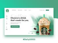 Starbucks Redesign - Daily UI Challenge #003