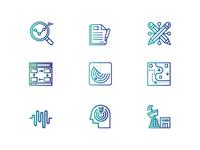 Two Color Icon Set Design