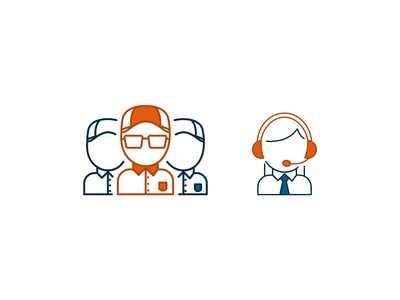 Business People Icons Design