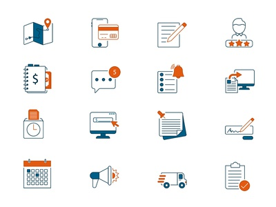 Service Flat Icons Set