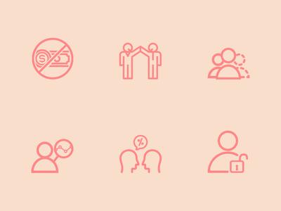 Partners Icon Set