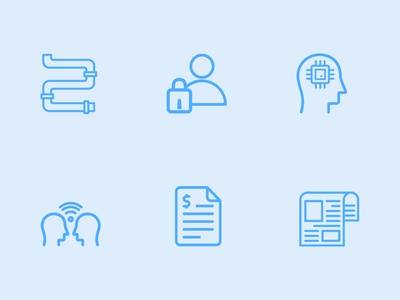 Blue App Icons