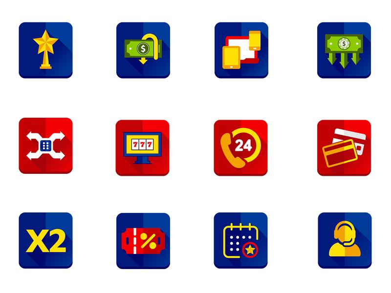 Game Icons typography set design icon set illustration game icon game gaming casino app icons icon design icon