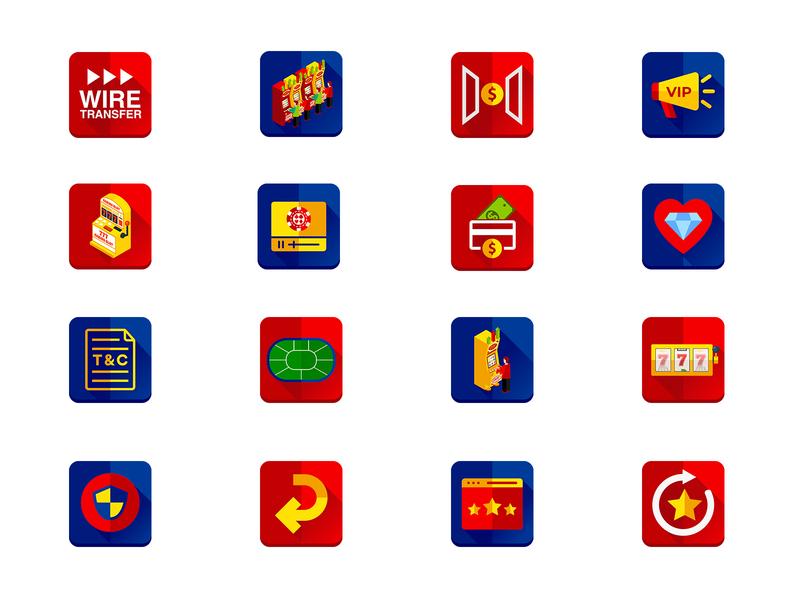 Casino Icon Design icons set branding design icon set illustration game icon game gaming casino casino icons app icons icon design icon