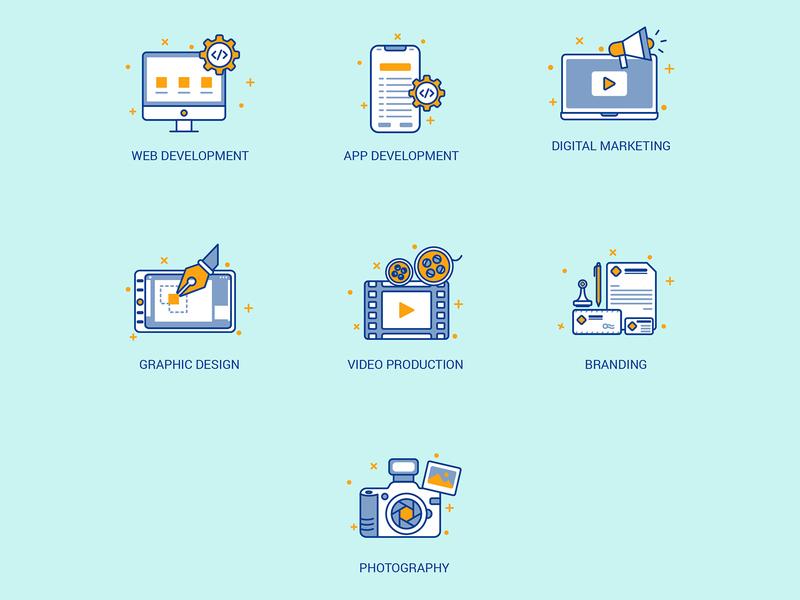 App Icon Set app icons type identity typography branding app set design icon